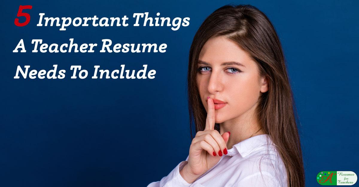 resume application for school teacher
