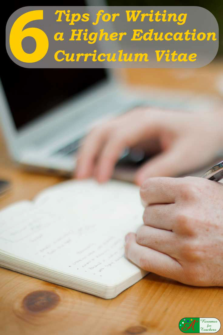 writing a curriculum vitae examples