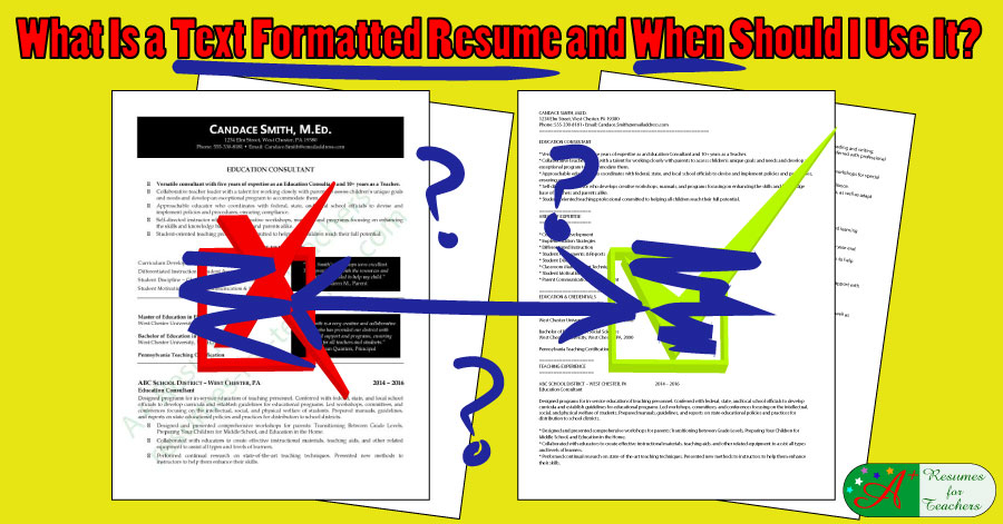 What Is a Text Formatted Resume and When Should I Use It?