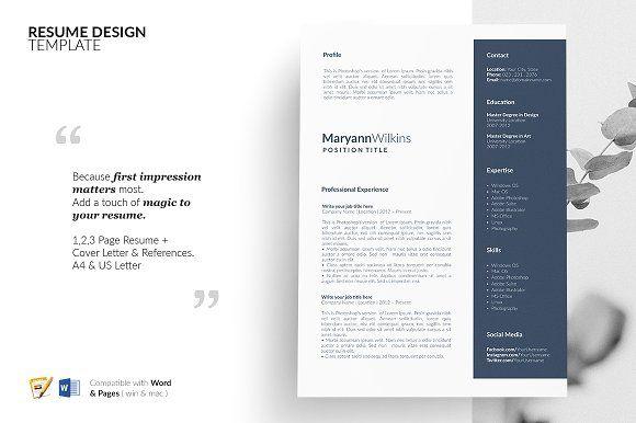 Resume Templates  Design  CV Design Resume Design Template