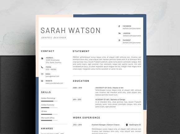 Resume Templates  Design  Creative Resume Template MAC CV