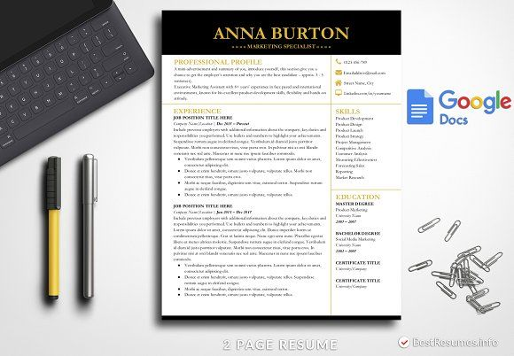 Resume Templates  Design  Modern Resume Template Google Docs by