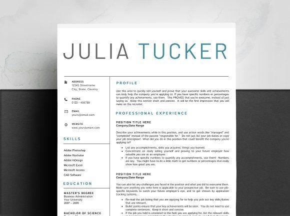Resume Templates  Design  Professional Resume Template CV