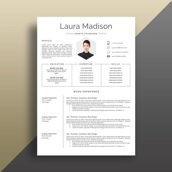 Resume Templates  Design  Resume Template + Cover Letter
