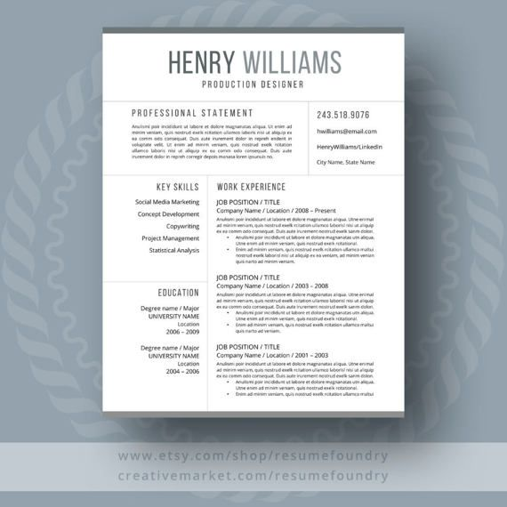 Resume Design  Simple and easy to use resume template Saved lots
