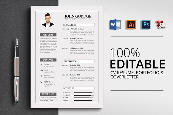 Resume Templates  Design  Creative Word Resume Template