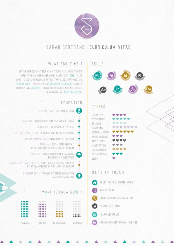 Resume infographic  40 Creative CV Resume Designs Inspiration 2014