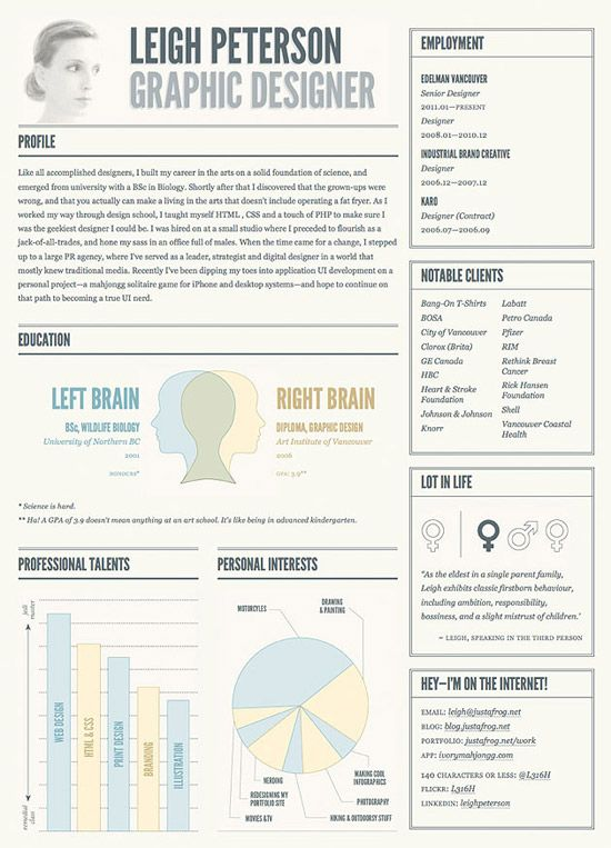 Resume infographic  creative business resume - Google Search