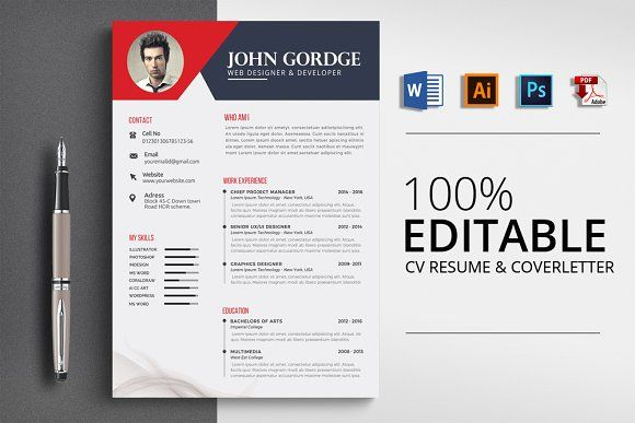 Resume Templates  Design  CV Resume Template Word File
