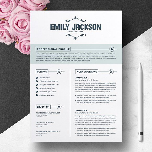 Resume Templates  Design  CV Template With Cover Letter - design cv template