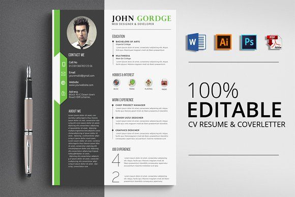 Resume Templates  Design  CV Word Resume Template CreativeWork247