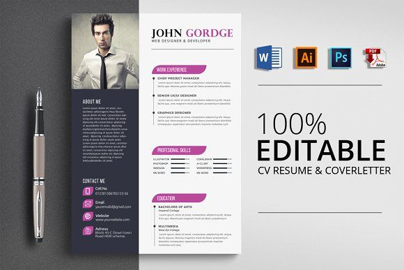 Resume Templates  Design  Creative Word CV Resume Template