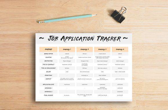 Resume Templates  Design  Job application tracker CreativeWork247