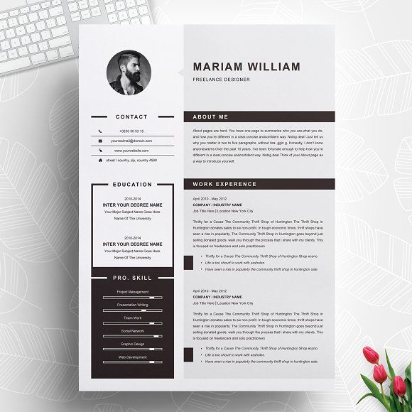 Resume Templates  Design  Modern  Clean Resume / CV Template