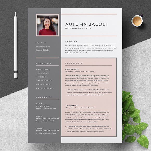 Resume Templates  Design  Resume / CV Template 3 Page