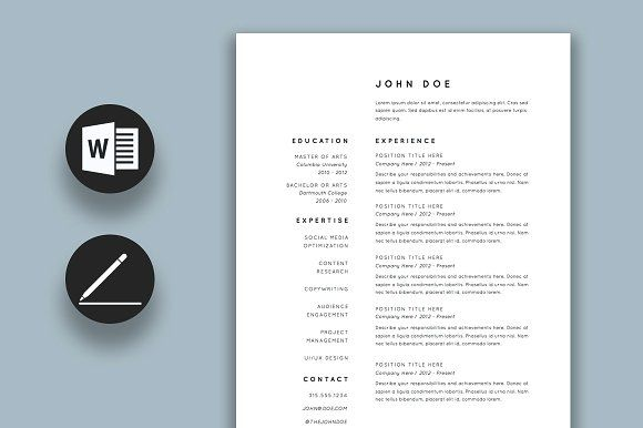 Resume Templates  Design  Resume / CV Template CreativeWork247 - Resume/cv Template
