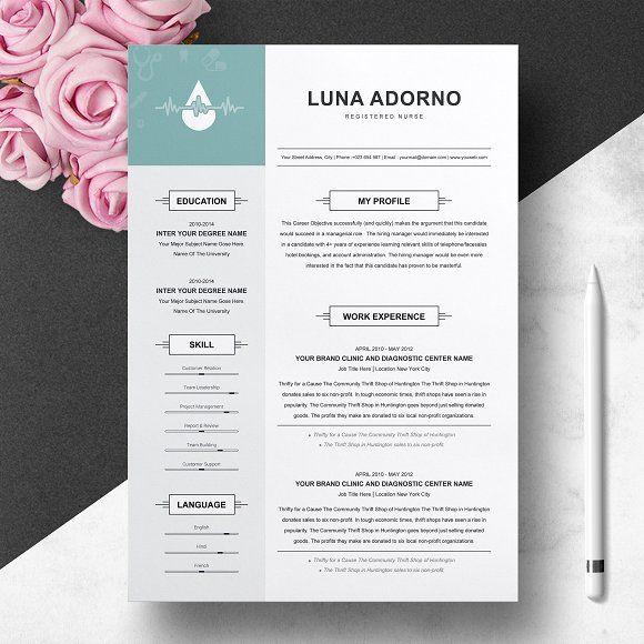 Resume Templates  Design  Resume Design Template for Nurse