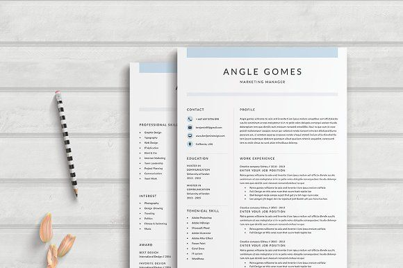 Resume Templates  Design  Resume Template 4 Page Angle - resume templates for designers