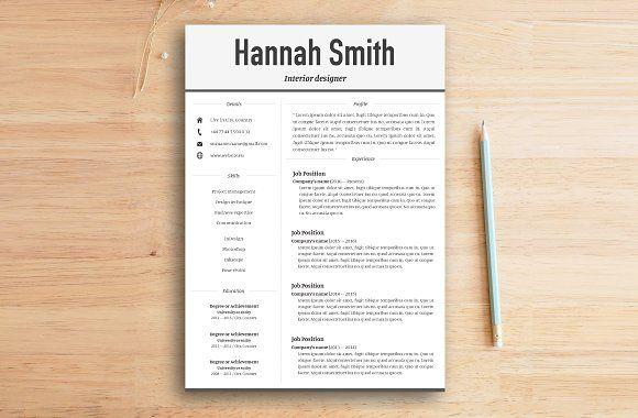 Resume Templates  Design  Resume  cover letter (Modern