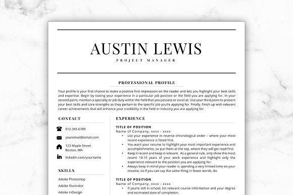 Resume Templates  Design  Resume/CV - Austin CreativeWork247