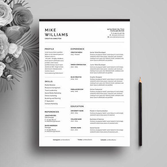 Resume Templates  Design  Resume/CV CreativeWork247 - Fonts