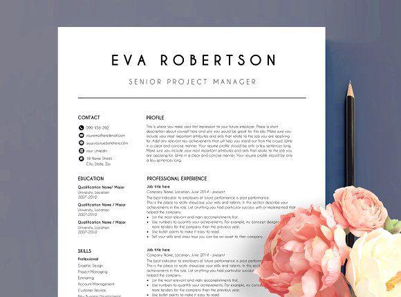 Resume Templates  Design  CV template 2 page EVA CreativeWork247