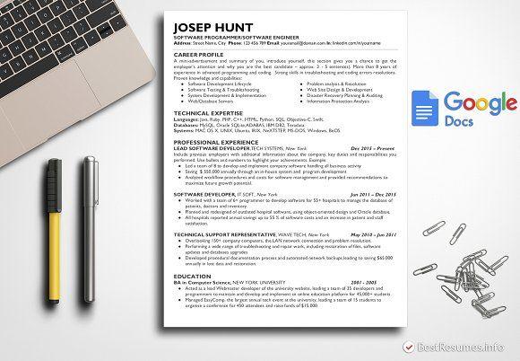 Resume Templates  Design  IT Resume Template Google Docs