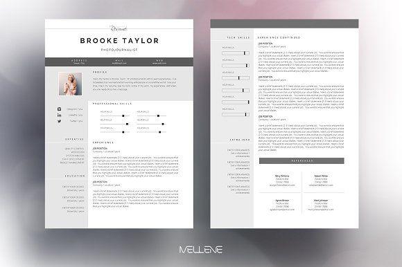 Resume Templates  Design  Resume / CV template - Brooke