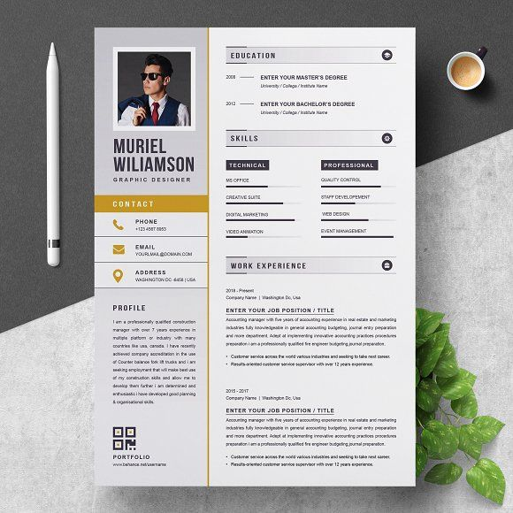 Resume Templates  Design  Resume Template Instant Download
