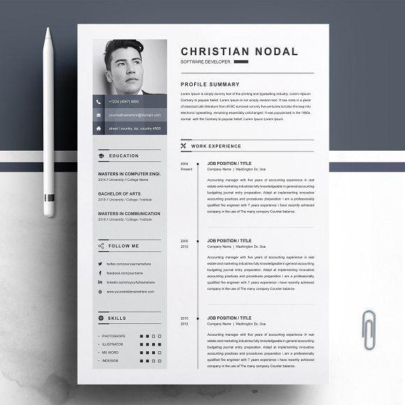 Resume Templates  Design  Resume Template CreativeWork247 - Fonts