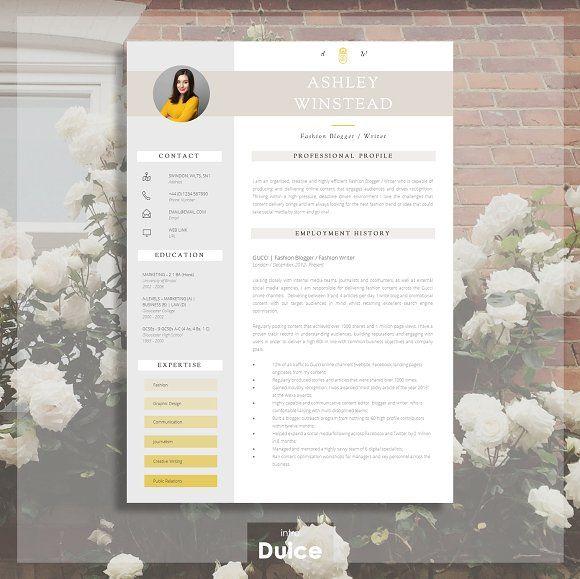 Resume Templates  Design  2 Page CV Template CreativeWork247