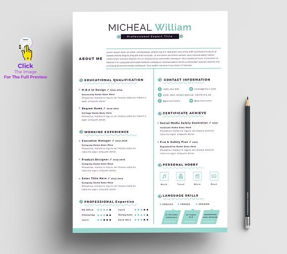 Resume Templates  Design  Resume / Cv Apple Pages  Ms Word