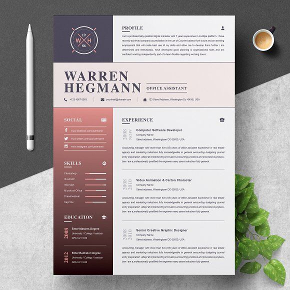 Resume Templates  Design  Resume Template Modern  Creative