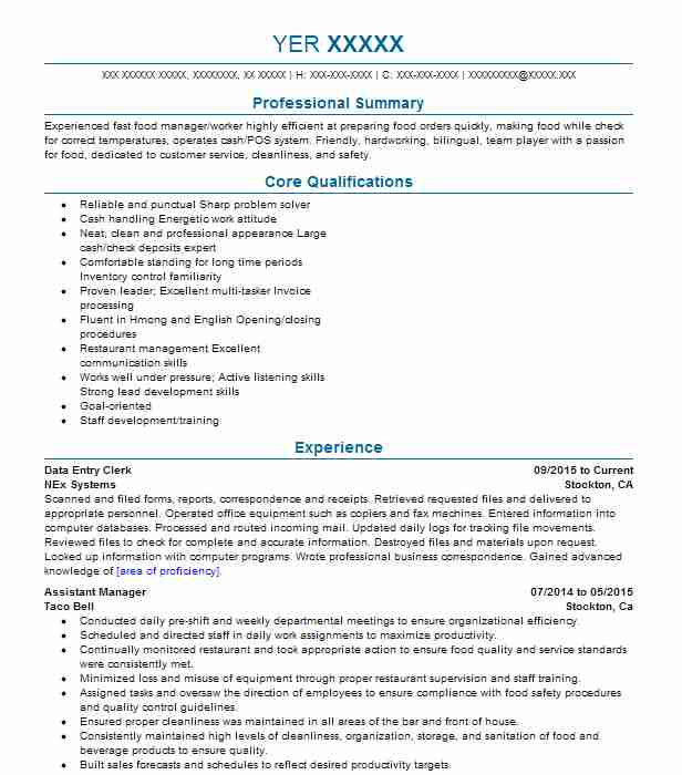Data Entry Clerk Resume Sample Administration Resumes LiveCareer