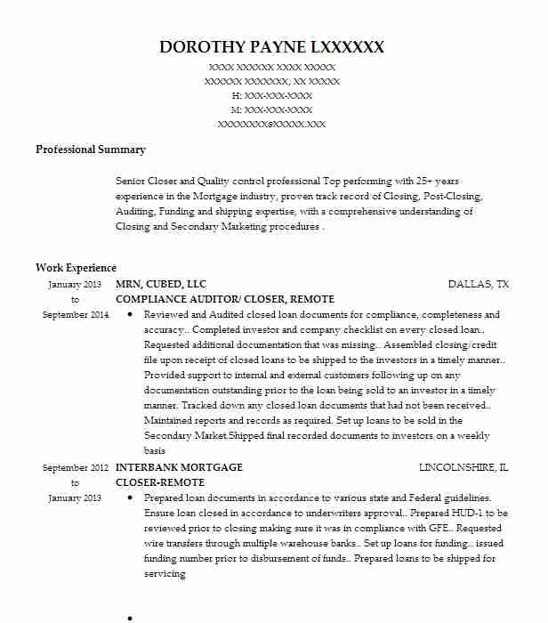 191 Mortgage Resume Examples in Georgia LiveCareer - loan auditor sample resume