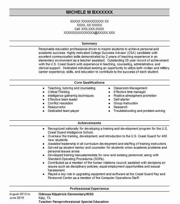 867 School Counseling Resume Examples in Texas LiveCareer