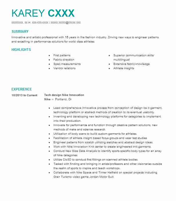4546 Textile And Apparel Resume Examples Samples LiveCareer .