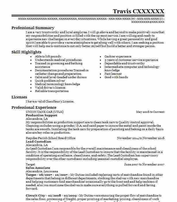 Production Support Resume Sample Support Resumes LiveCareer