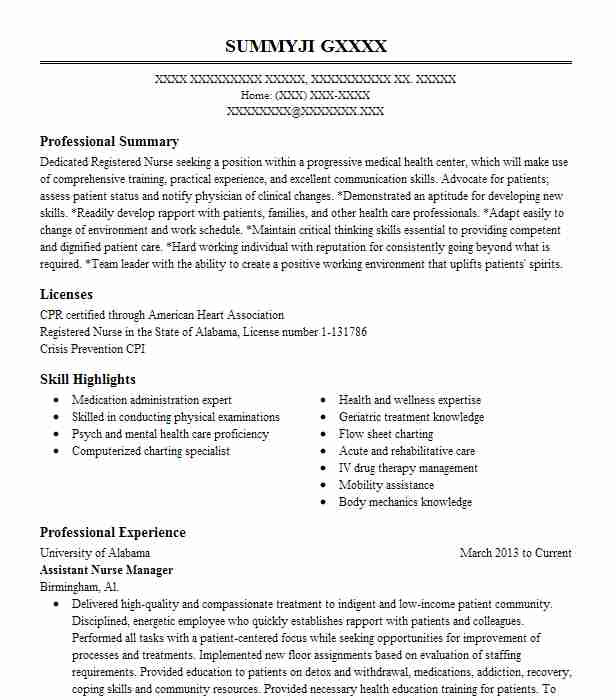 4748 Psychiatric Nurses Resume Examples Nursing Resumes LiveCareer - mental health specialist sample resume