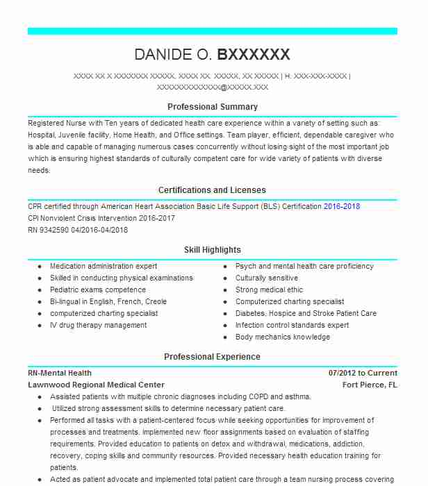 Assistant Nurse Manager Resume Example (University Of Alabama
