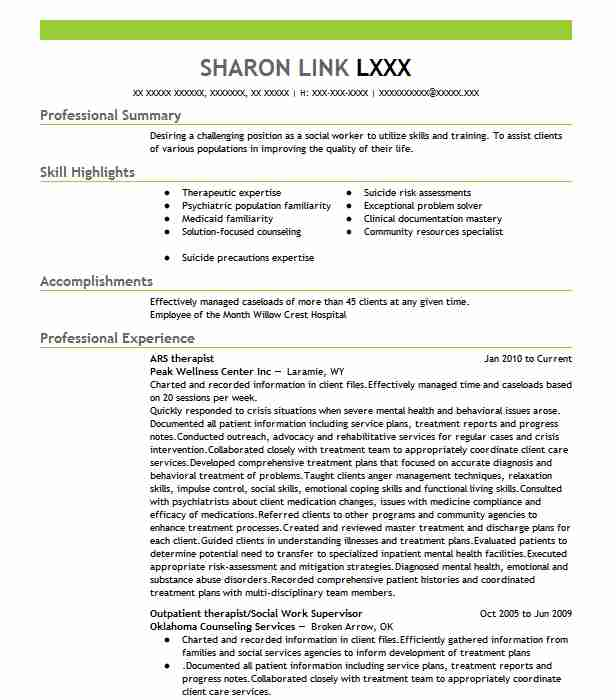 16 Mental Health Resume Examples in Wyoming LiveCareer - psychosocial rehabilitation specialist sample resume