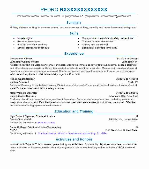 Correctional Officer Resume Correctional Officer Resume Inmates