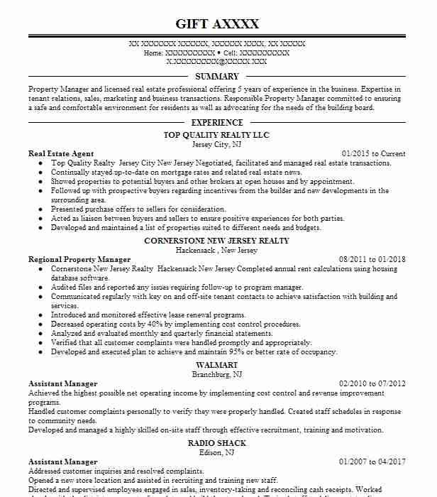 27246 Property Management Resume Examples Real Estate Resumes