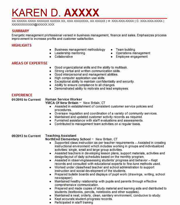 Human Service Worker Resume Sample Worker Resumes LiveCareer