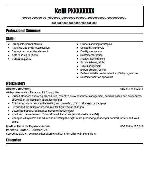 36 Airline Customer Service Agent Resume Candybrand Co