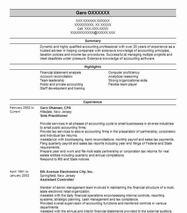 Fixed Asset Accountant Resume Sample Accountant Resumes LiveCareer - Fixed Asset Accountant Sample Resume