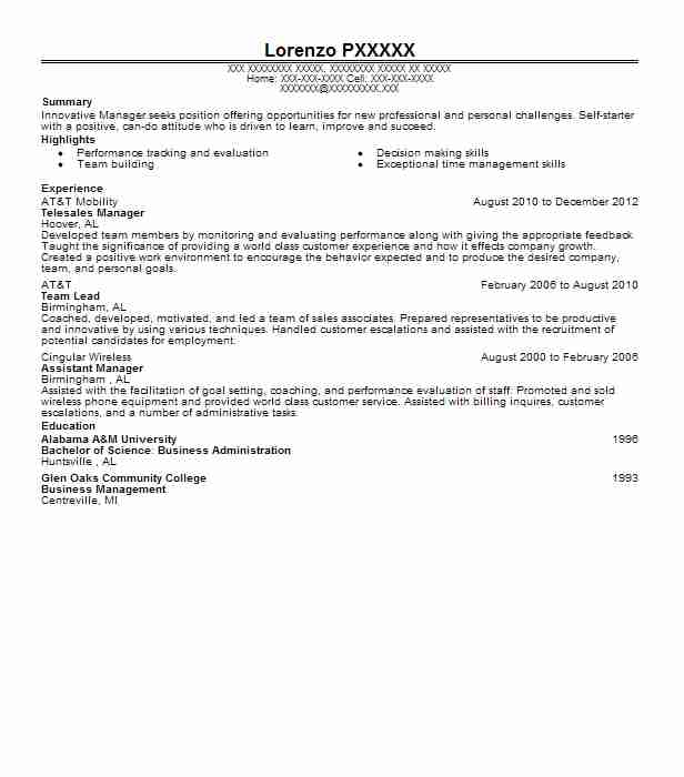 Telesales Manager Resume Sample Manager Resumes LiveCareer