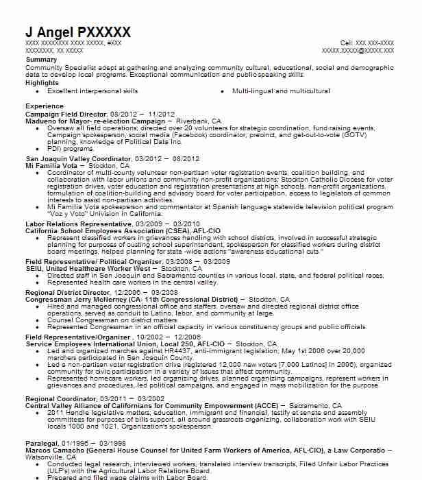 Campaign Field Director Resume Sample Director Resumes LiveCareer