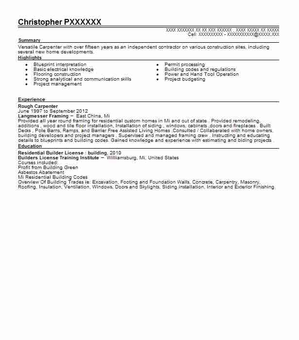 concrete carpenter resume free pdf download carpenter assistant - rough carpenter sample resume
