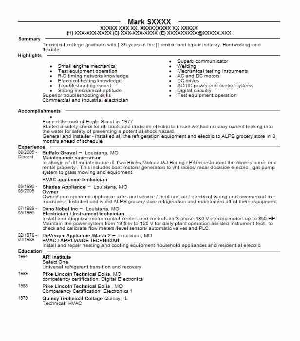 Small Engine Mechanic Sample Resume - Shalomhousefree entry level - Small Engine Repair Sample Resume